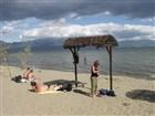 Pláž na Prespanském jezeře