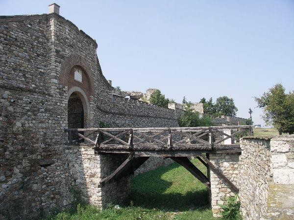 Most a hradby pevnosti ve Skopje