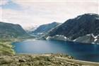 Norsko - Chata u jezera v údolí Ottadalen pod Dalsnibbou