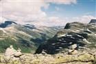 Norsko - Pohled z vyhlídkové hory Dalsbiba