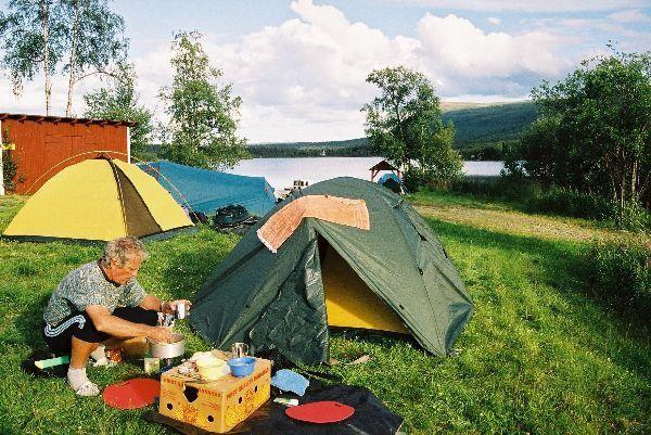 Stanujeme ve švédském NP Pieljekaise
