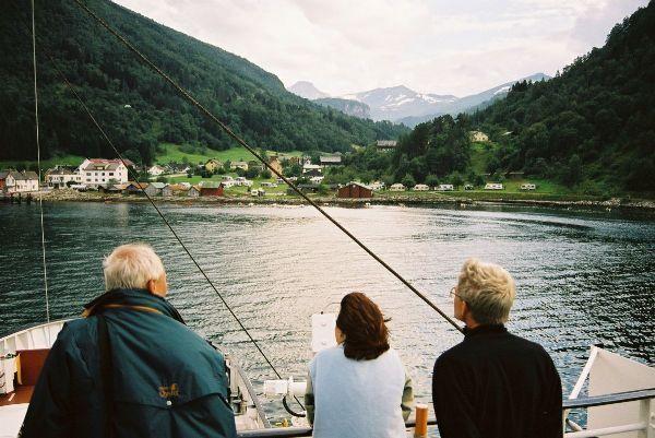Plavba přes Sognenfjord