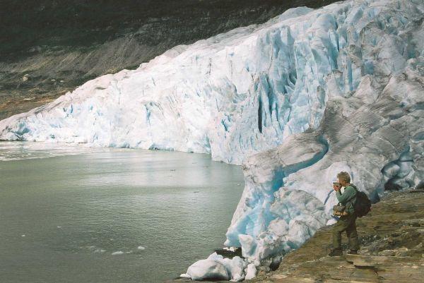 Svartisen, ledovec na polárním kruhu
