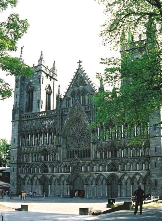 Nejsevernější gotická katedrála je v Trondheimu