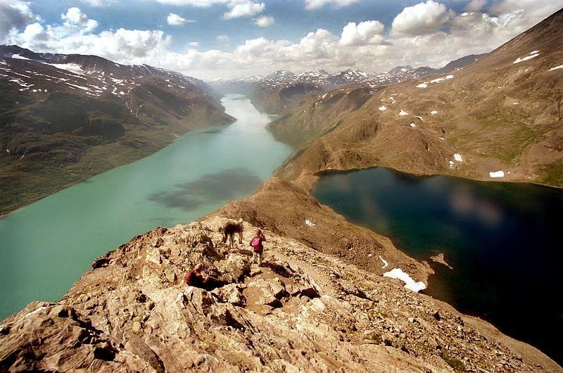 Norsko - jezero Jotunheimen Bessvatnet
