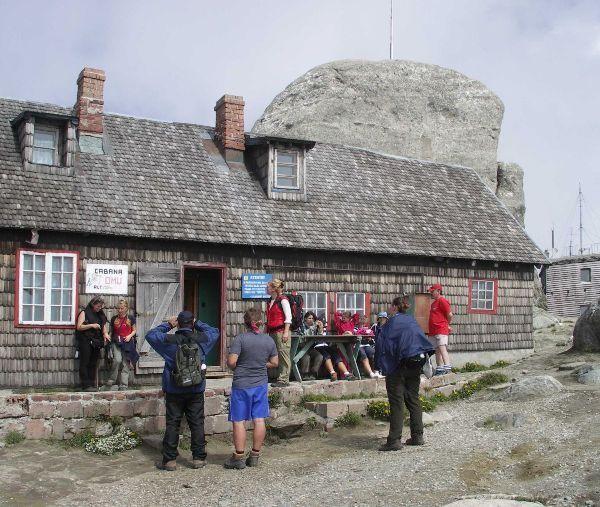 Rumunsko - Chata Omu na nejvyšším vrcholu 2507m