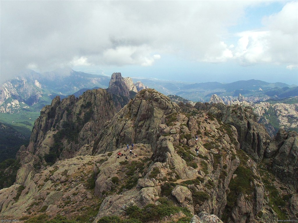 Korsika, výhled z Punta Velaco