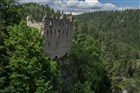 Německo - skalní městečko a hrad Oybin