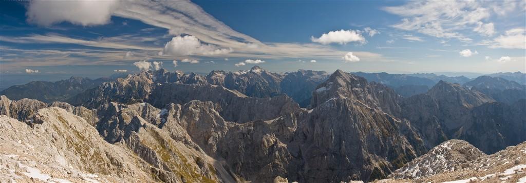Panorama Julských Alp
