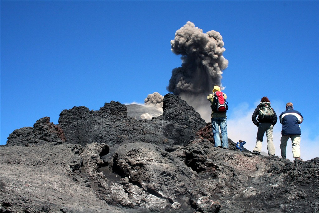 Itálie - Sicílie - vulcán sopky Etna