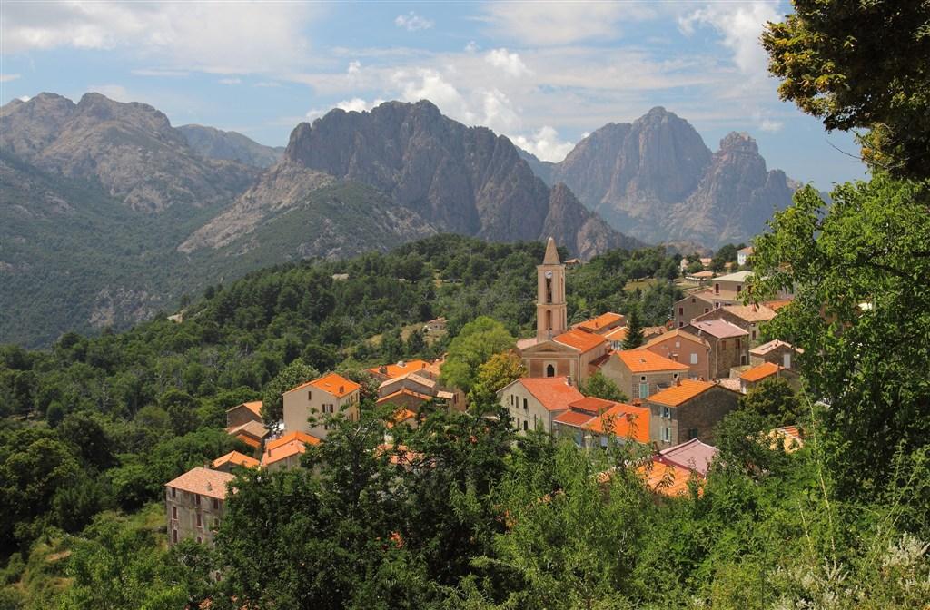 Evisa - ostrov Korsika