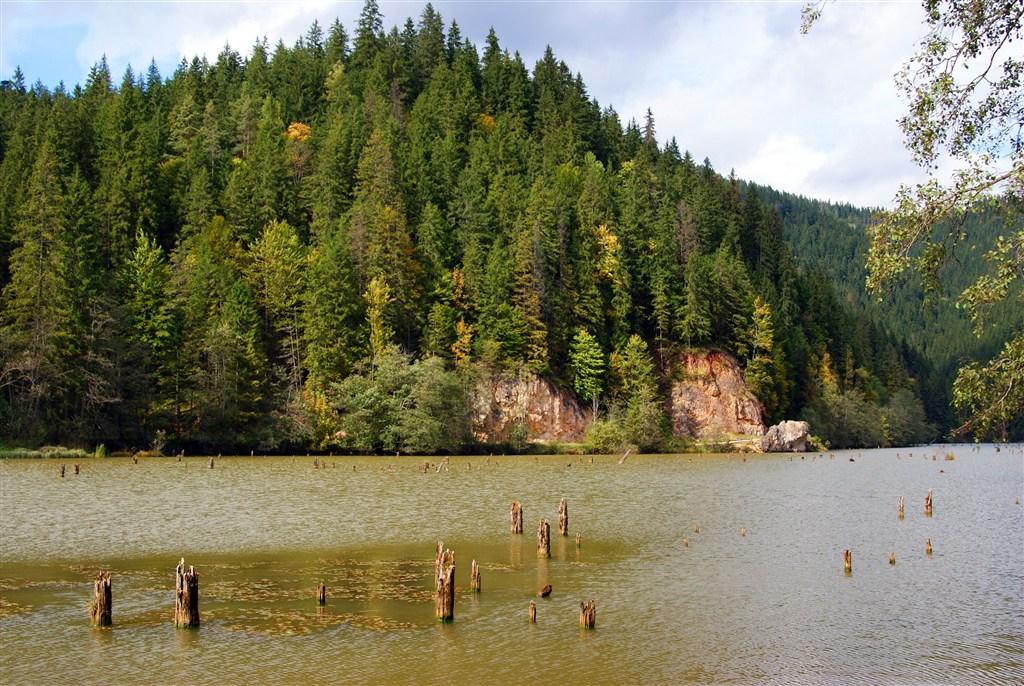 Rumunsko - jezero Lacu Rocu