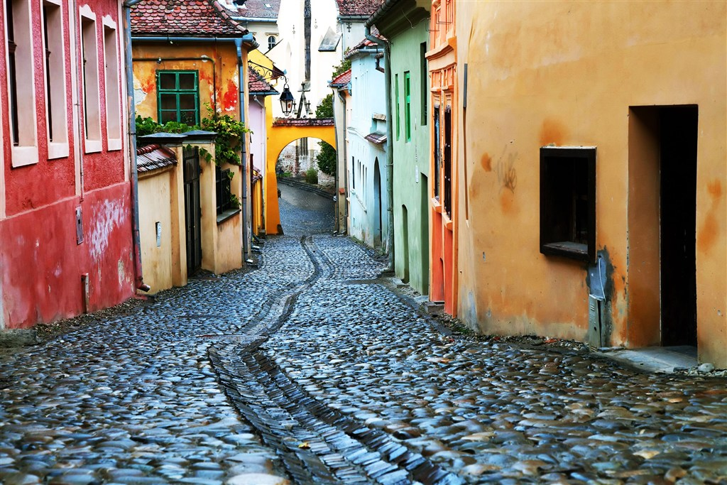 Rumunsko - Sighisoara - typické uličky