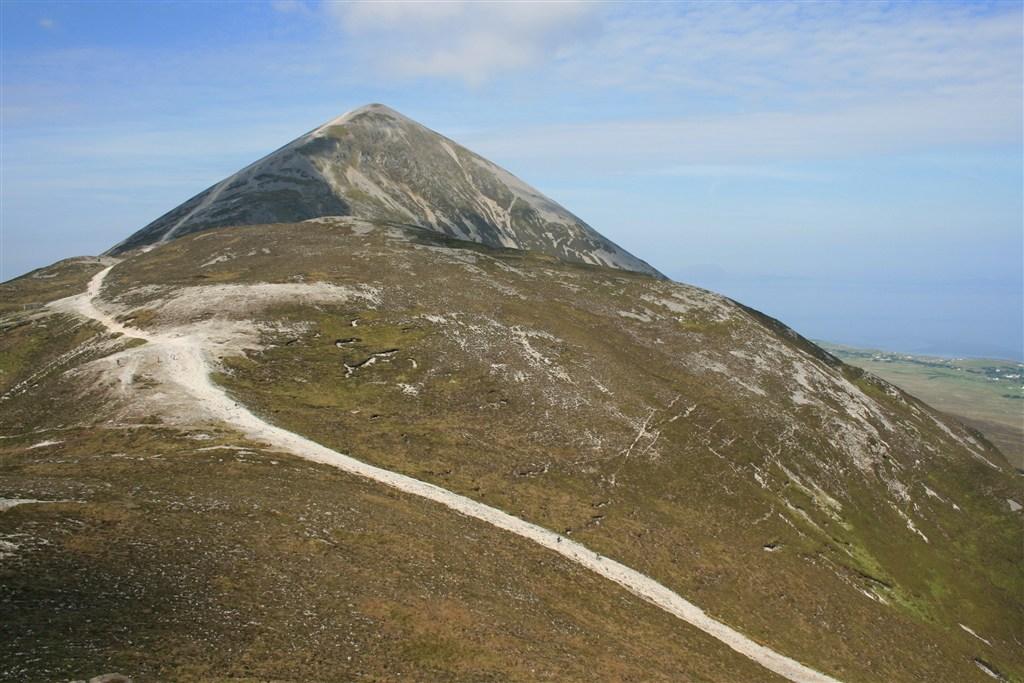 Irsko - Croagh Patrik - pohled na vrchol