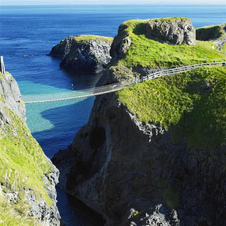 Severní Irsko - lanový most Carrick-A-Rede