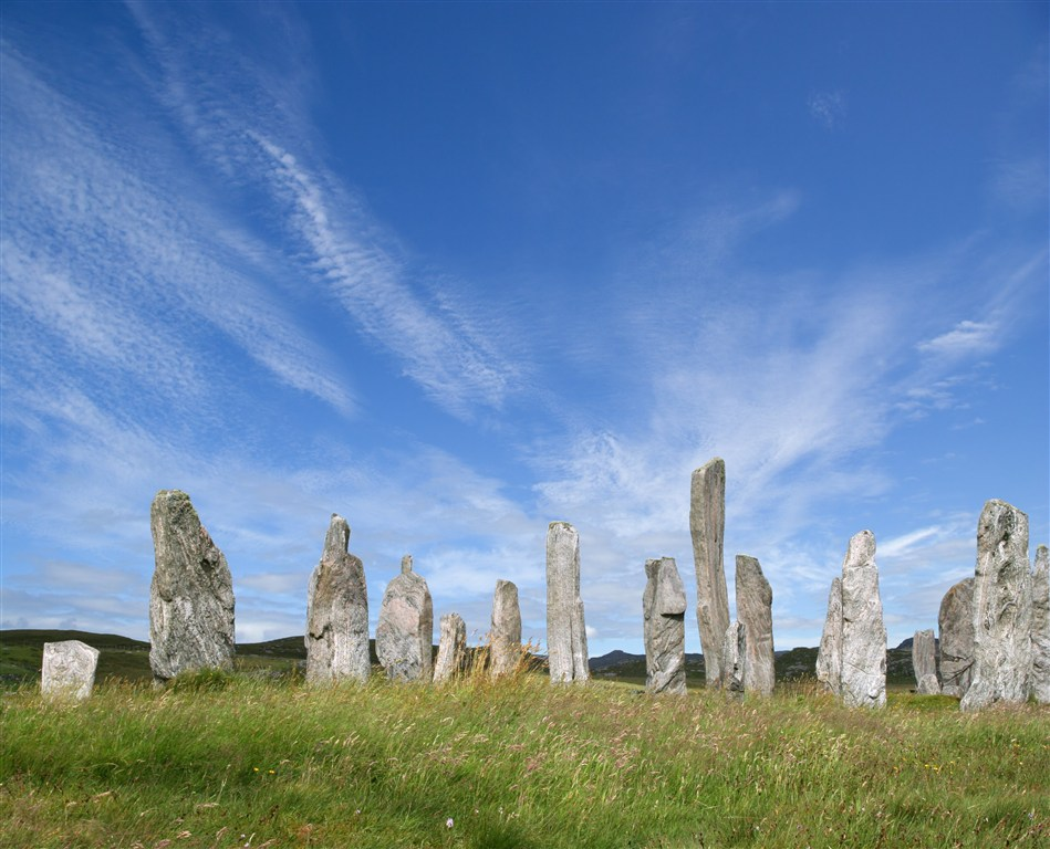 Skotsko - Vnější Hebridy - ostrov Lewis - Callanish Standing Stones