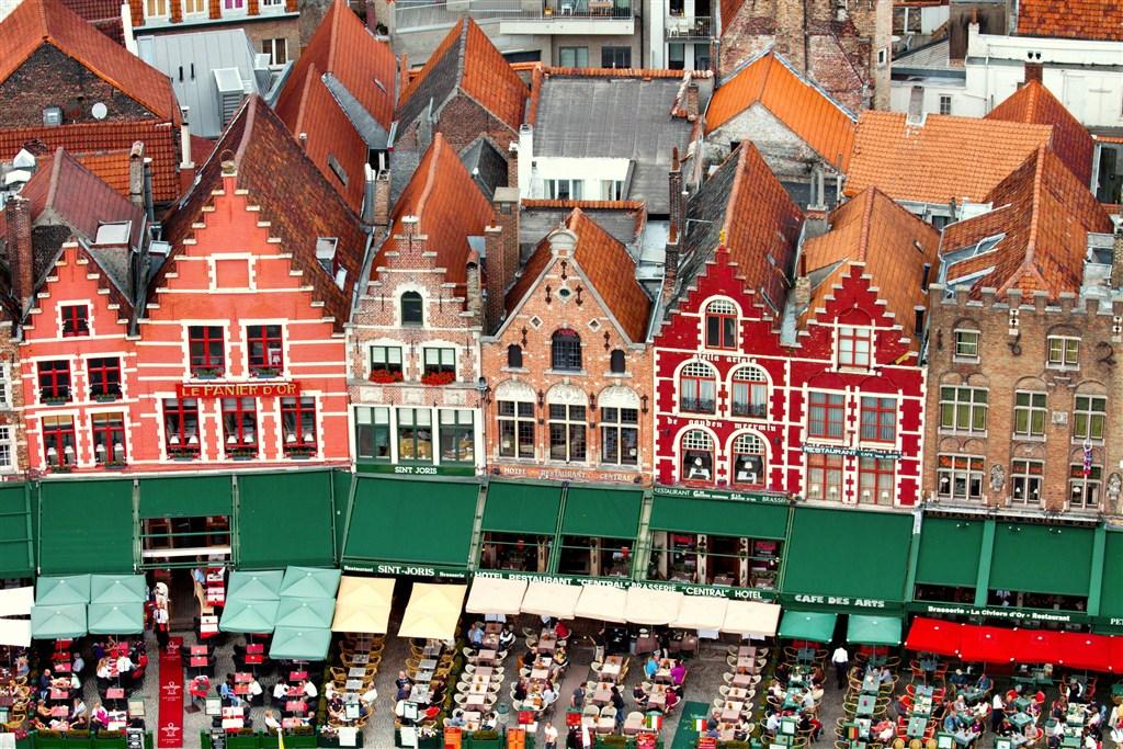 Belgie - Bruggy - místní restaurace
