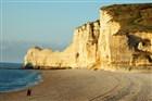 Normandie pláž Etretat