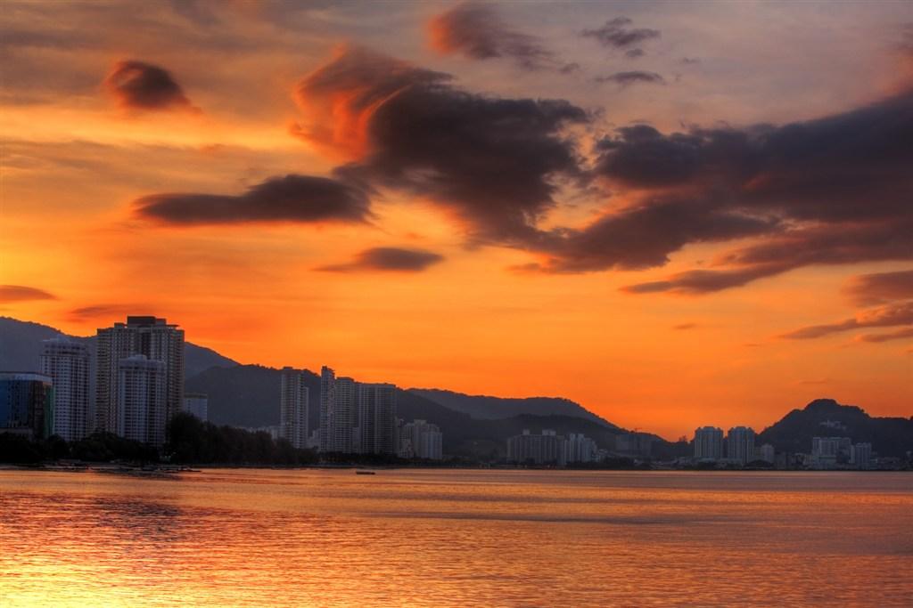 Malajsie - Penang - západ slunce
