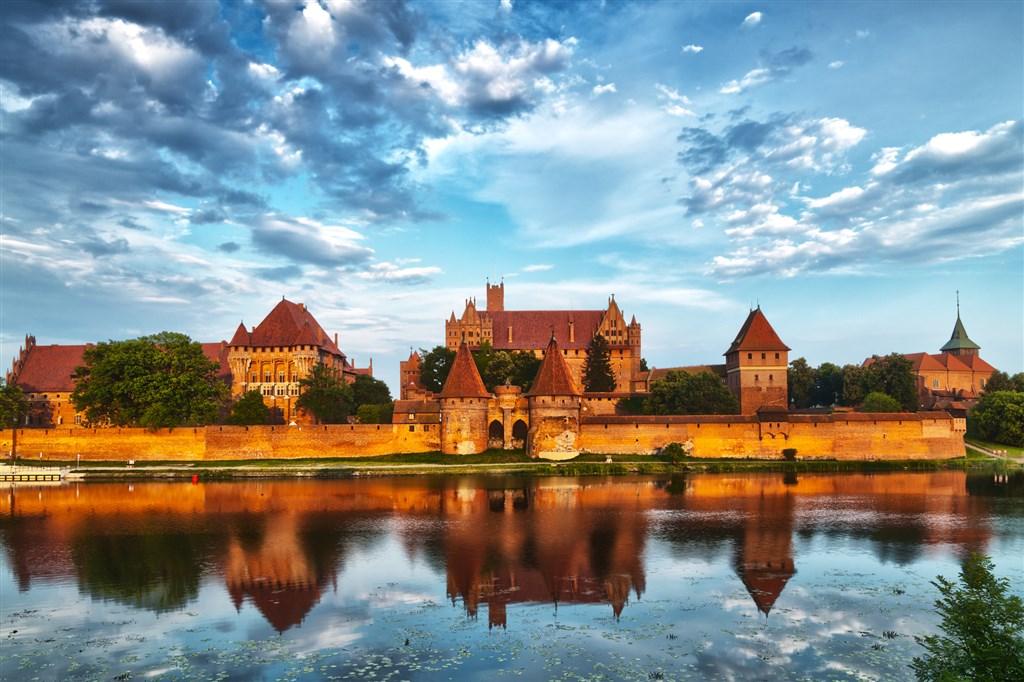 Hrad řádu německých rytírů ve městě Malbork