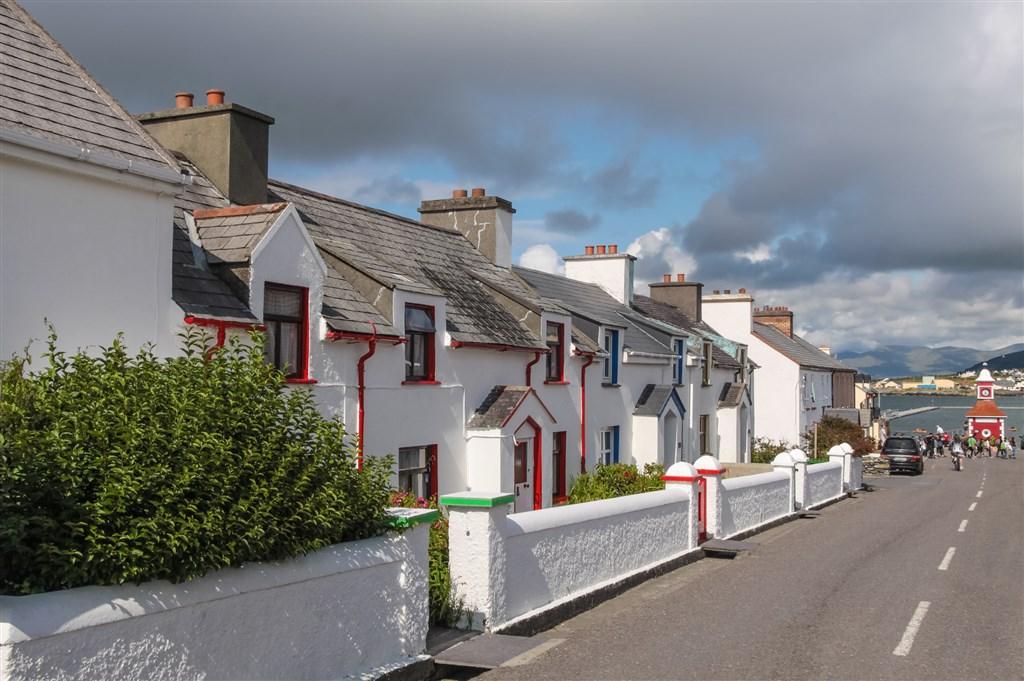 Ostrov Valentia - typické domy