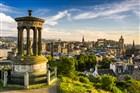 Překrásný výhled na Edinburgh Old Town