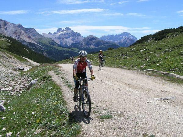 Dolomity na horském kole