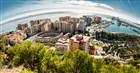 Španělsko - Andalusie - panoramatický pohled na Malagu