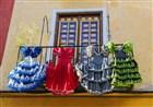 Španělsko - Andalusie - Malaga - tradiční šaty na flamengo