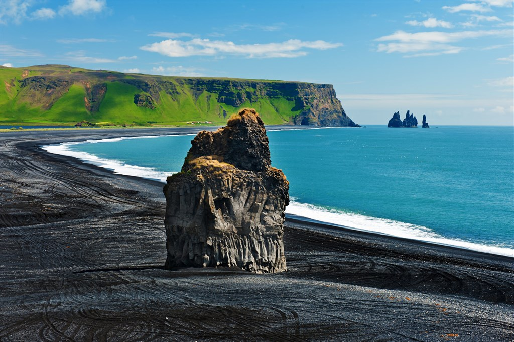 černá pláž Dyrholaey - Island