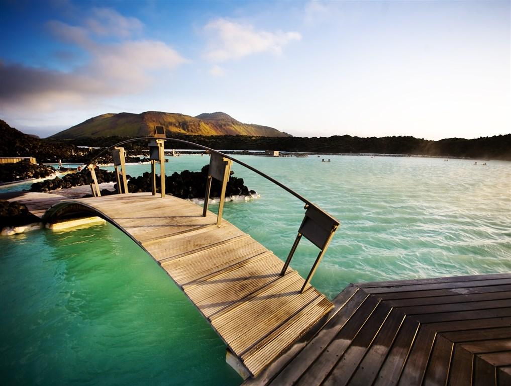 geotermální lázně - Modrá laguna - Island