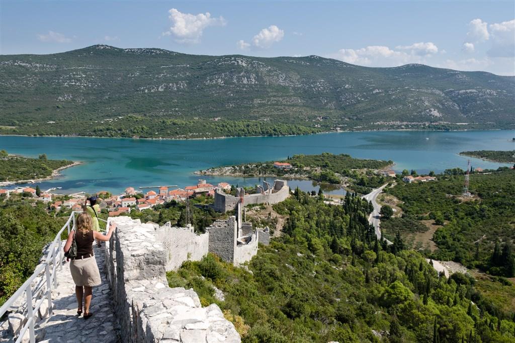obranná zeď Ston - Chorvatsko