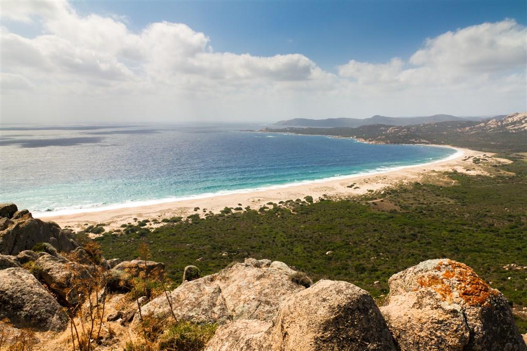 pláž Roccapina na ostrově Korsika