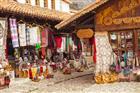 Tradiční trh v Kruji - Albánie