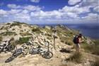 Mallorka Cap de Pinar. Jedna z nesčetných vyhlídek, kam se dá na kole také vyjet.
