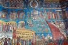 Rumunsko - klášter Voronet - malby