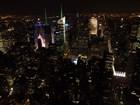 New York - noční výhled z Empire State Bldg