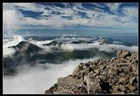 Skotsko - hory v oblacích