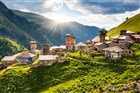 vesnice Adishi - Svanetie - Gruzie
